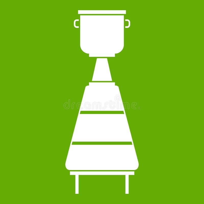 Vert d'icône d'équipement de distillerie de vin illustration de vecteur