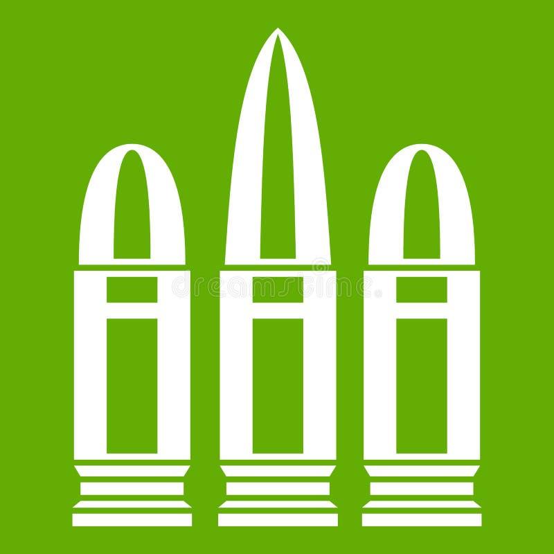 Vert d'icône de cartouches illustration de vecteur