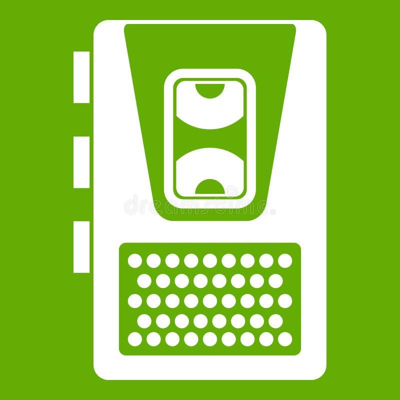 Vert d'icône de dictaphone illustration stock