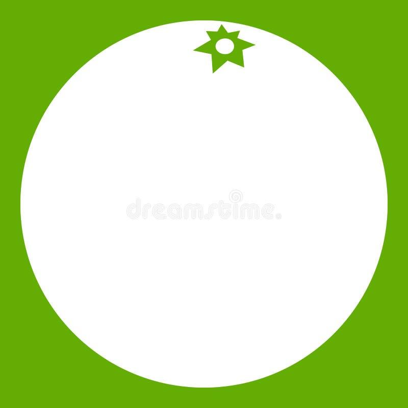 Vert d'icône de mandarine illustration de vecteur