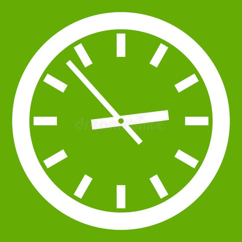 Vert d'icône de montre illustration libre de droits