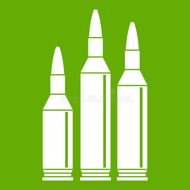 Vert d'icône de munitions de balle illustration stock