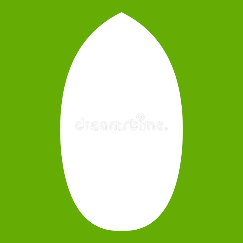 Vert d'icône de noix de pécan illustration de vecteur