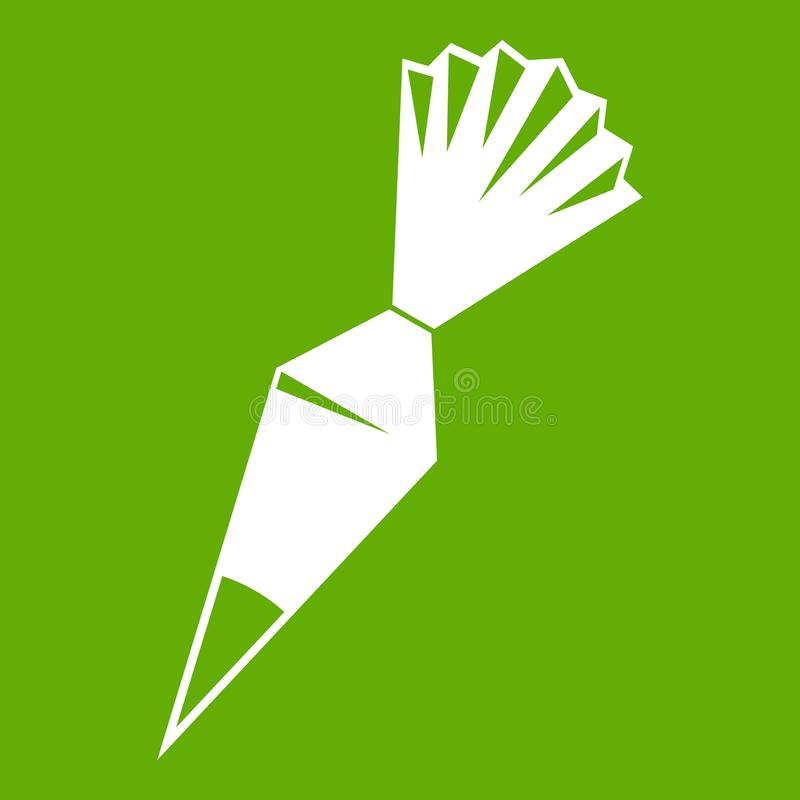 Vert d'icône de sac de glaçage de coton illustration de vecteur