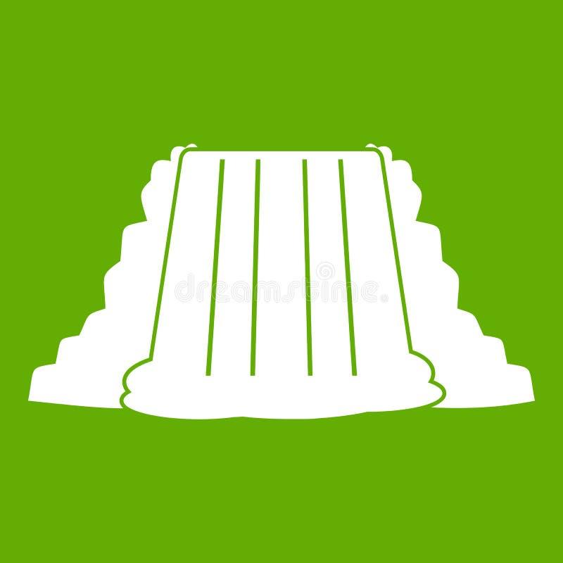 Vert d'icône de chutes du Niagara illustration stock