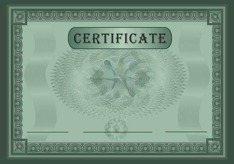 Vert de certificat illustration libre de droits