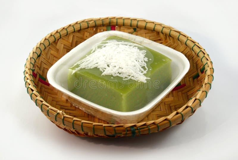 Vert de dessert avec pandan image stock