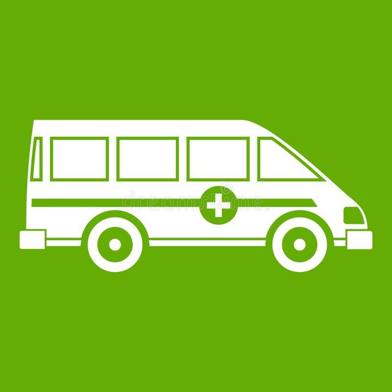 Vert de emergency van icon d'ambulance illustration stock