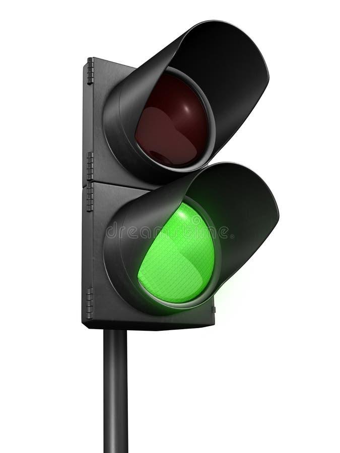Vert de feux de signalisation illustration stock