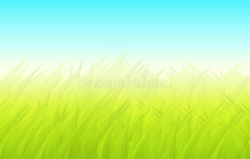 Vert de fond de ressort illustration stock