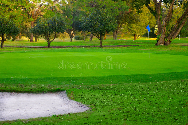 Vert de golf photo stock