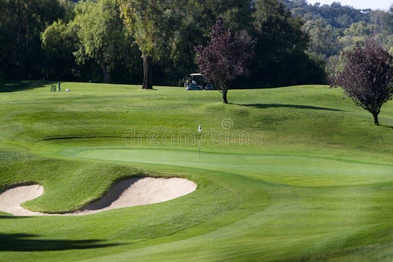Vert de golf photo libre de droits