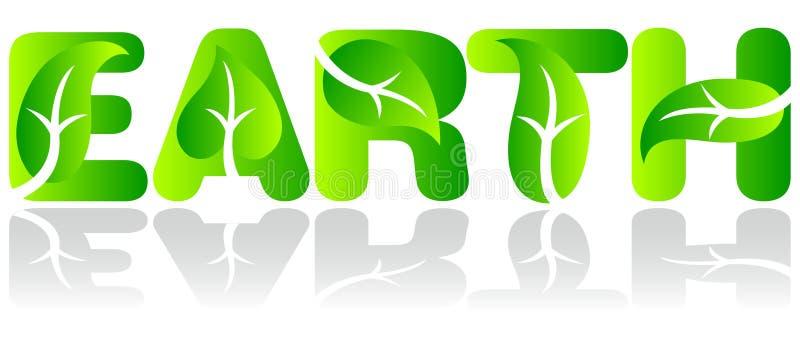 vert de l'écologie ENV de la terre illustration de vecteur
