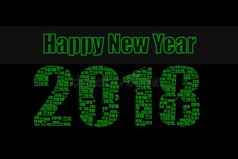 Vert de la bonne année 2018 image stock