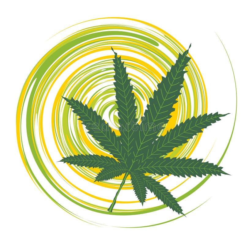 Vert de lame de cannabis illustration stock