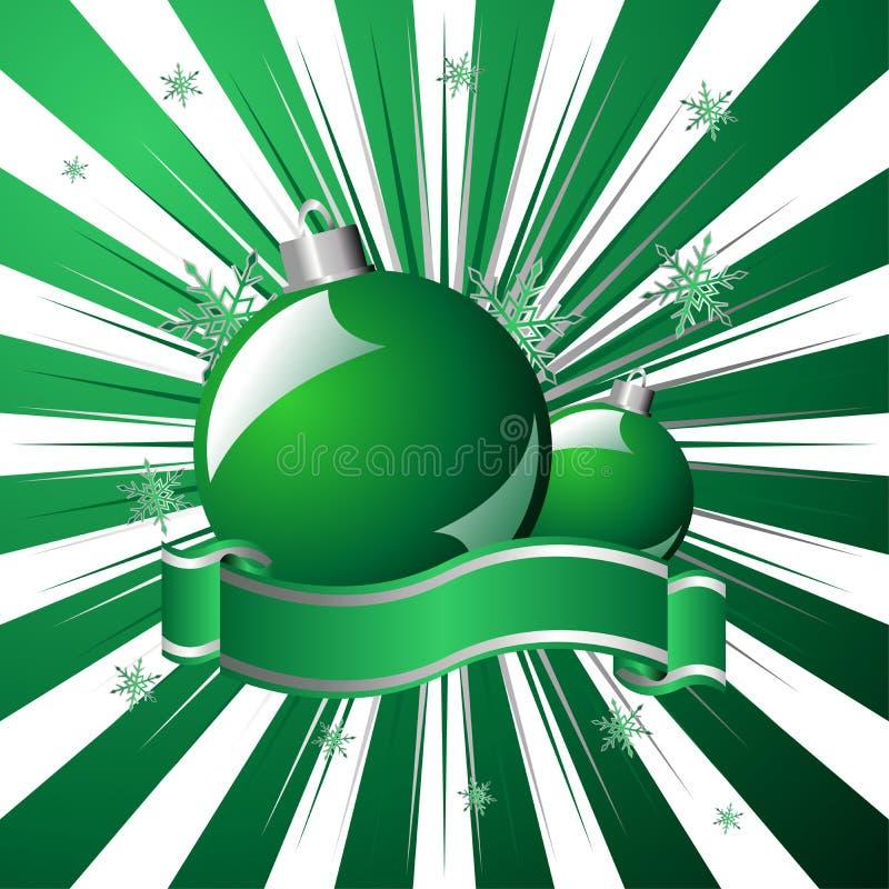 vert de Noël au-dessus d'étoilé illustration stock