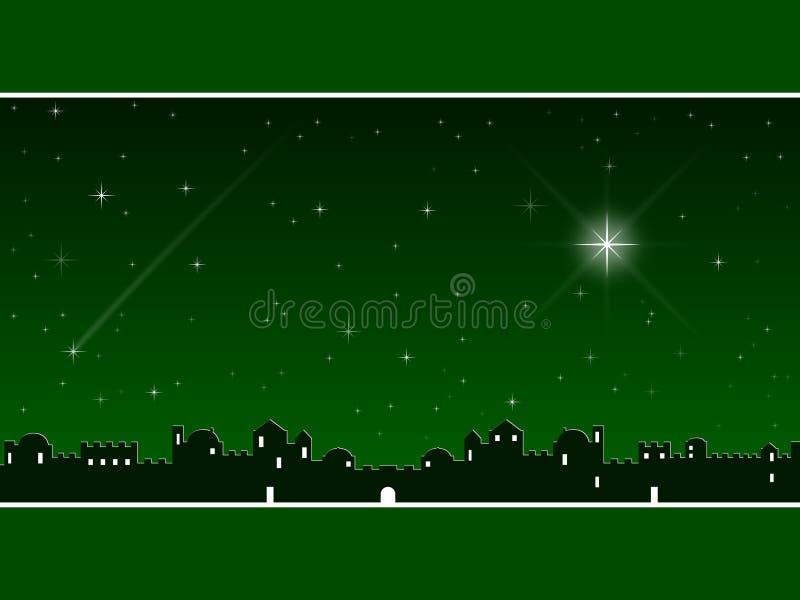 vert de Noël de Bethlehem illustration de vecteur