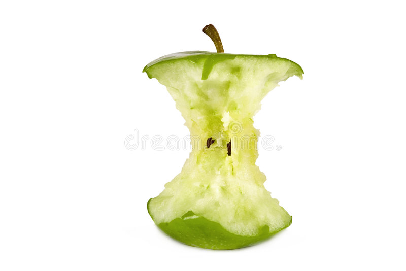 vert de noyau de pomme photo libre de droits