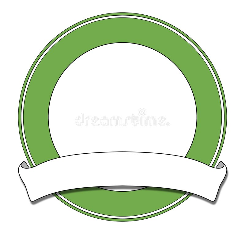 Vert de plaque illustration stock