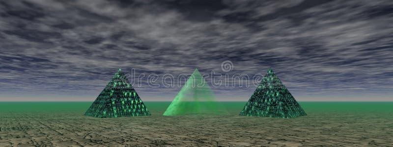 Vert de pyramides illustration stock