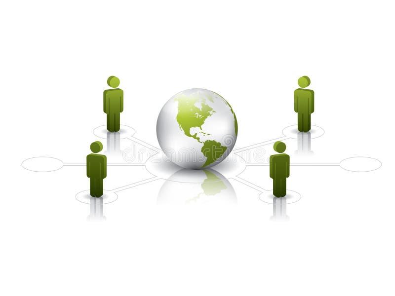 Vert de réseau global illustration stock
