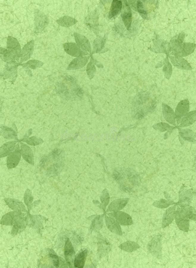 Vert de texture de papier fabriqué à la main illustration stock