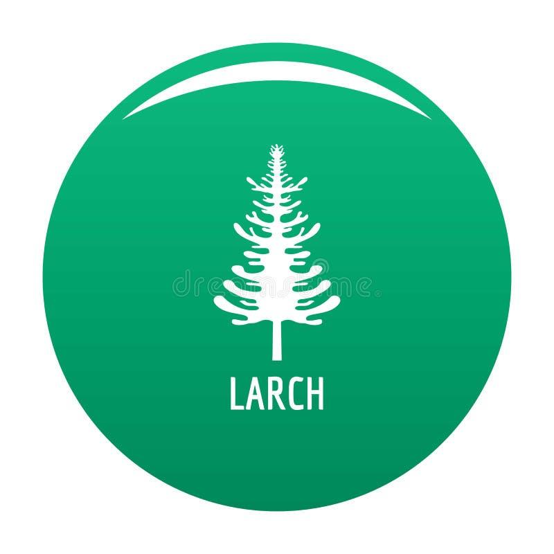 Vert de vecteur d'icône d'arbre de mélèze illustration stock