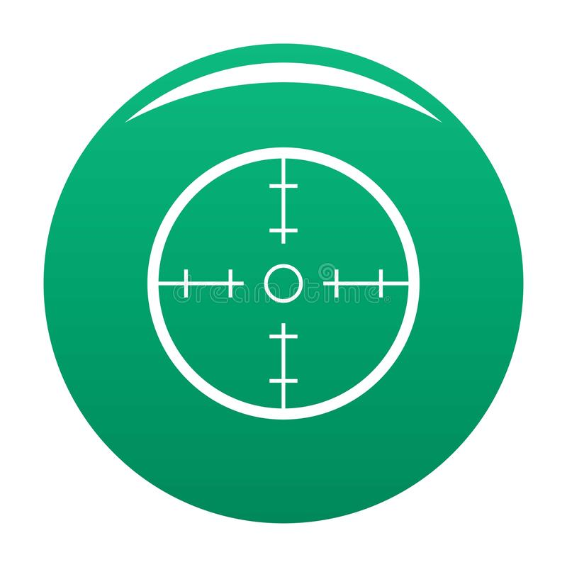 Vert de vecteur d'icône de radar illustration de vecteur