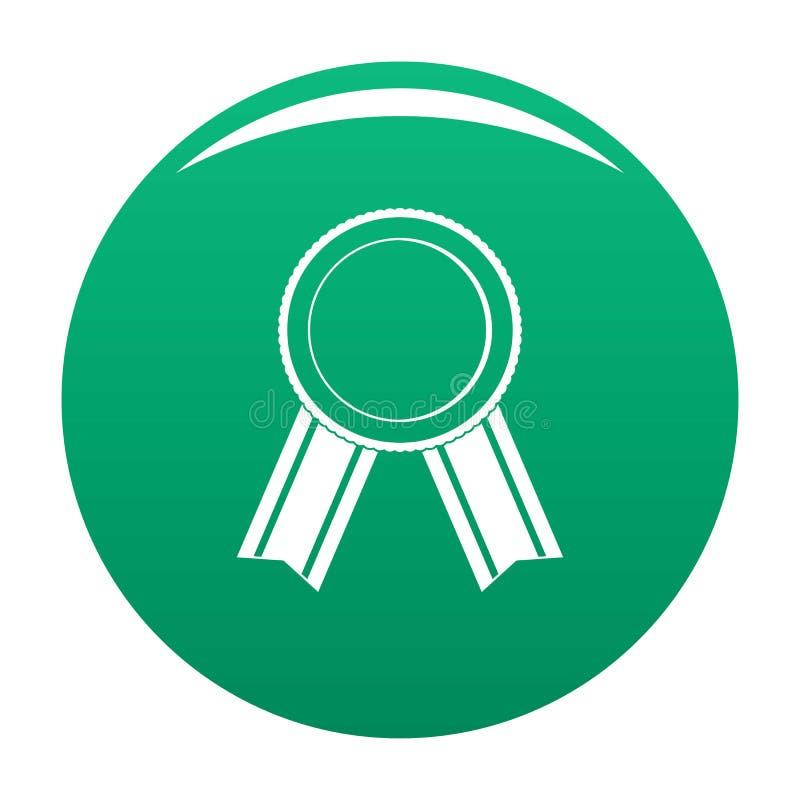 Vert de vecteur d'icône de ruban de récompense illustration stock