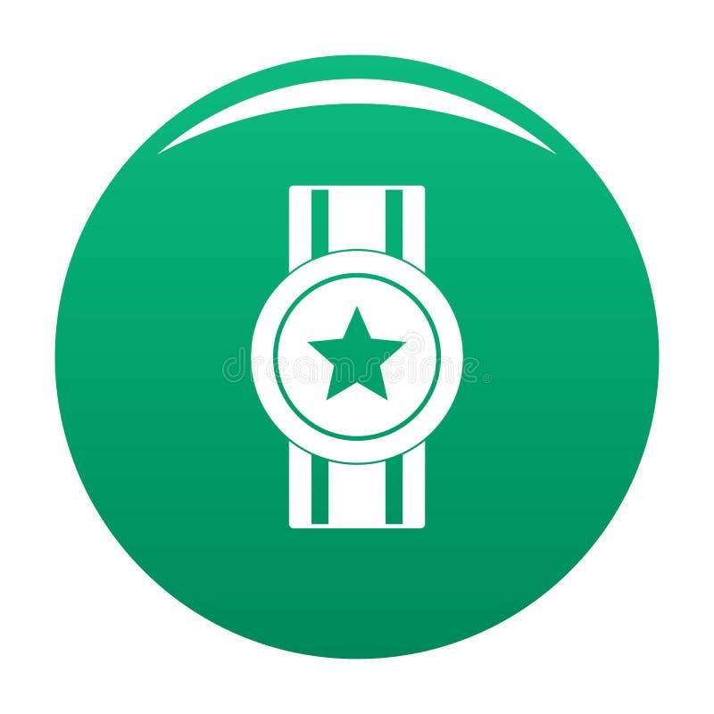 Vert de vecteur d'icône de ruban de récompense illustration de vecteur