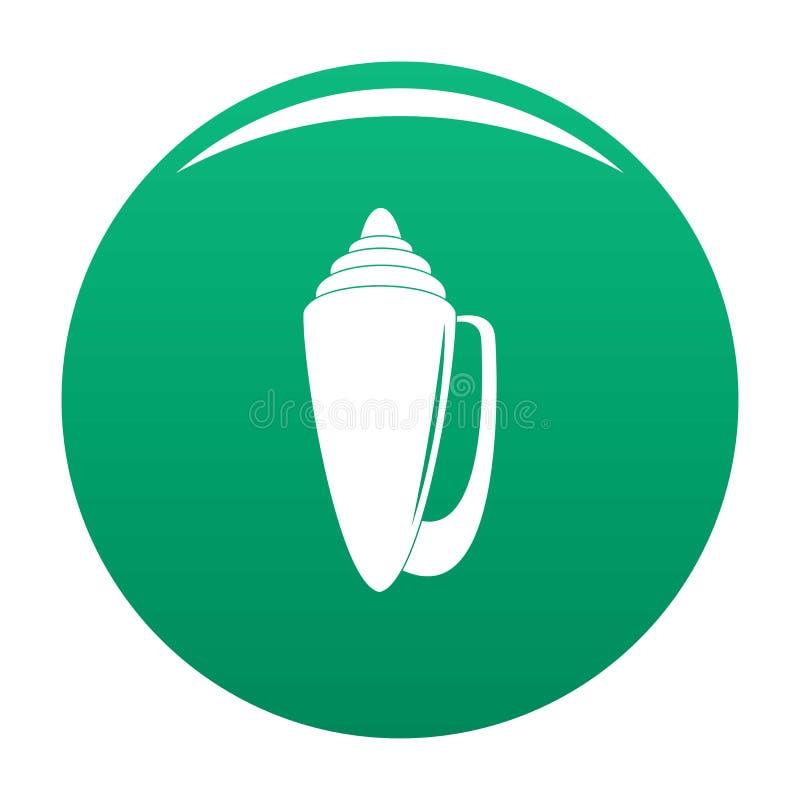 Vert de vecteur d'icône de Shell illustration stock