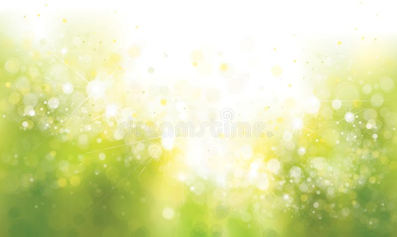 Vert de vecteur, fond de ressort illustration de vecteur