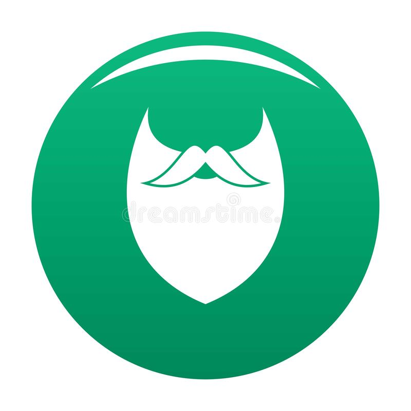 Vert dense de vecteur d'icône de barbe illustration de vecteur