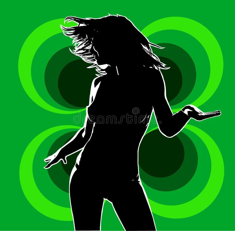 Vert du danseur 01 de club illustration libre de droits
