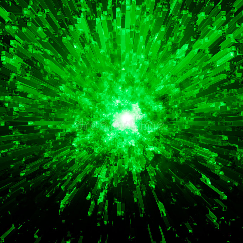 vert en cristal d'explosion photo stock