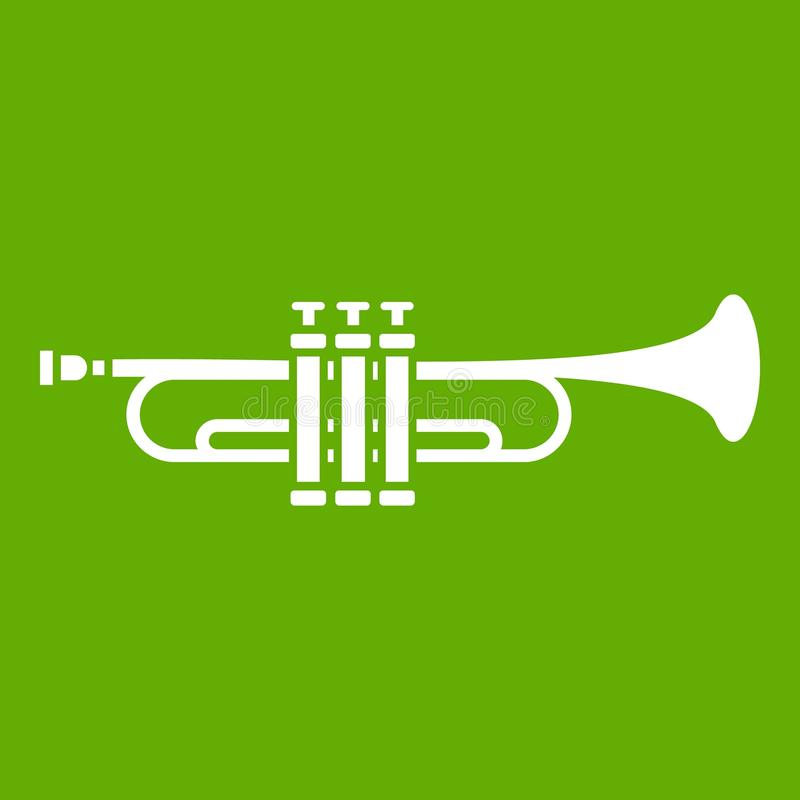 Vert en laiton d'icône de trompette illustration libre de droits