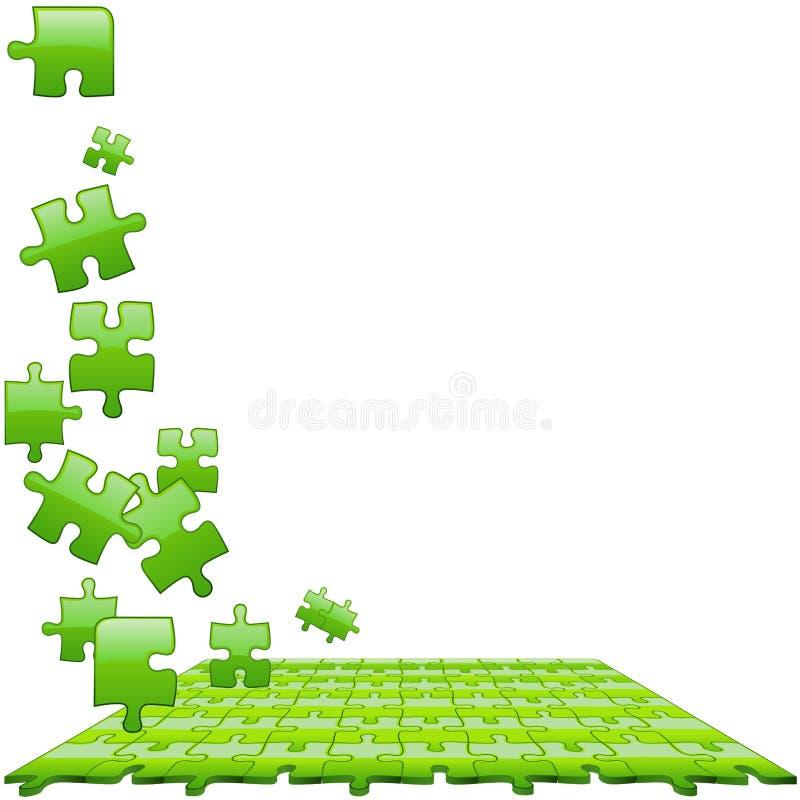 Vert en verre de puzzle illustration libre de droits