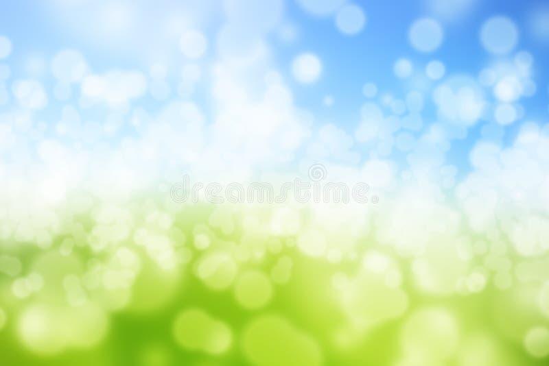 Vert et bleu illustration stock