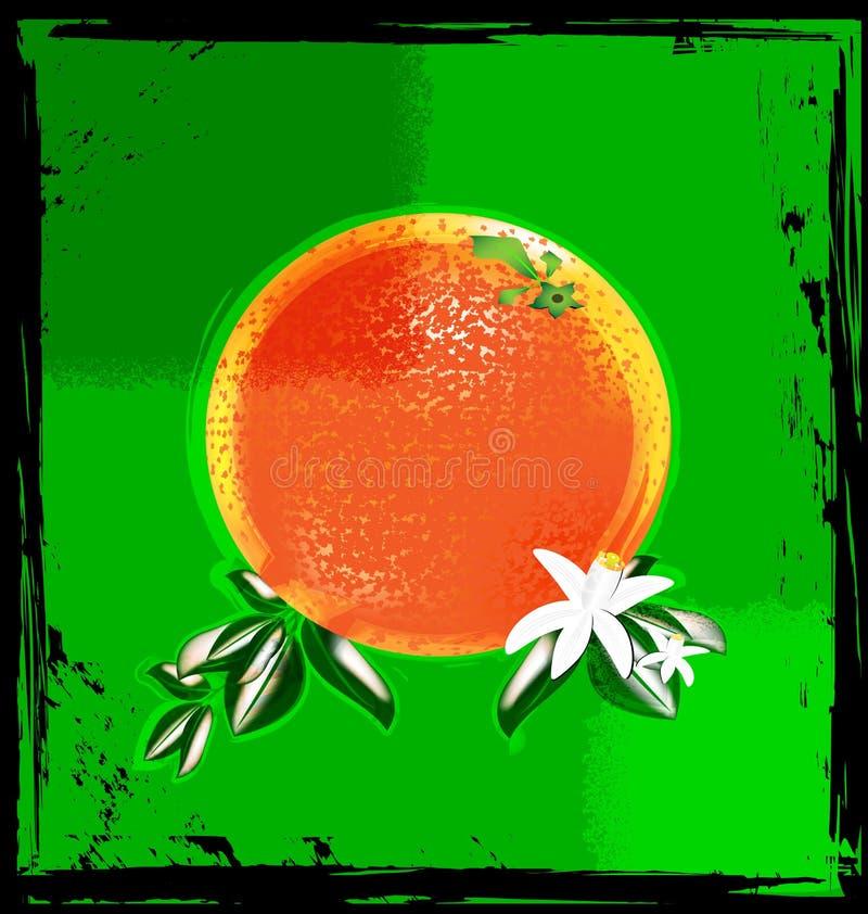 Vert et orange abstraits illustration de vecteur