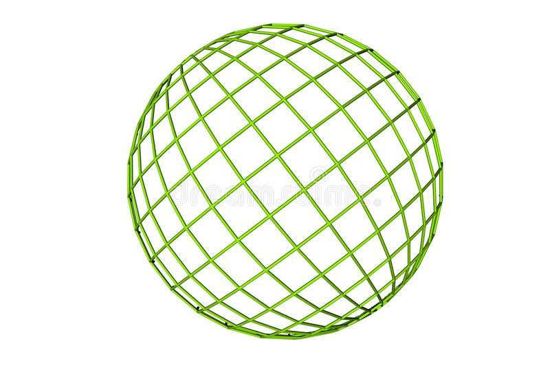 Vert, globe illustration de vecteur