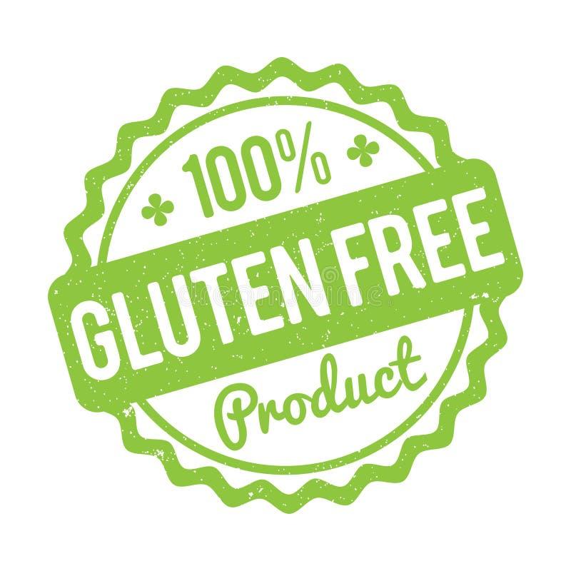 Vert GRATUIT de tampon en caoutchouc de produit de gluten sur un fond blanc illustration stock