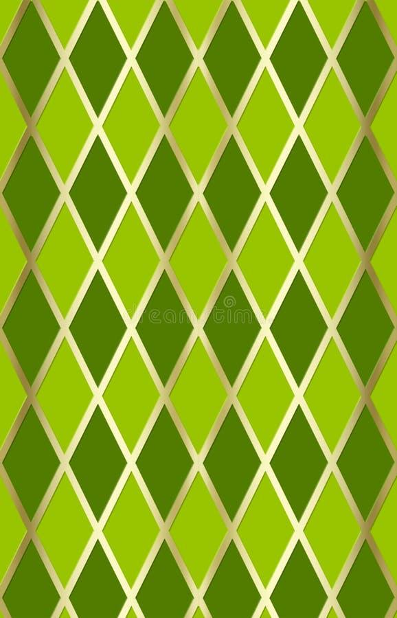 Vert/harliquin d'or illustration de vecteur