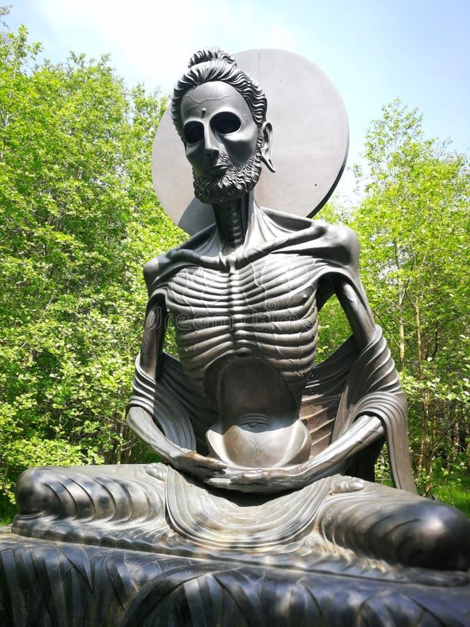 Vert indien de composition en mort de statue photo libre de droits