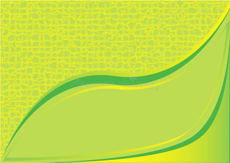 Vert jaune de fond illustration de vecteur