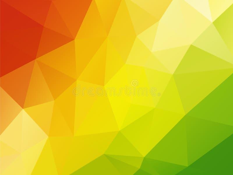 Vert jaune rouge de fond coloré illustration stock