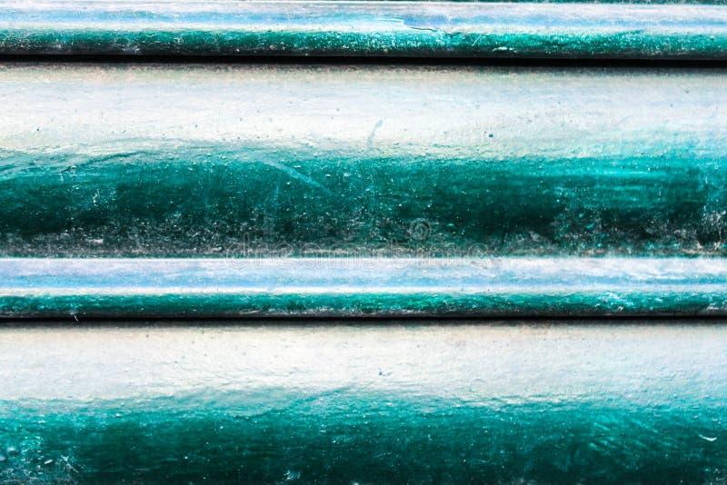 Vert métallique d'architecture de bâtiment de volet images libres de droits