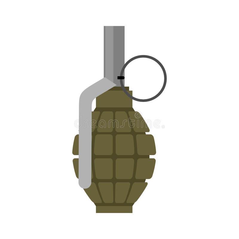 Vert militaire de grenade Explosifs d'armée Munitions de troupe WA illustration de vecteur