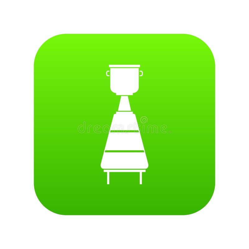 Vert numérique d'icône d'équipement de distillerie de vin illustration libre de droits