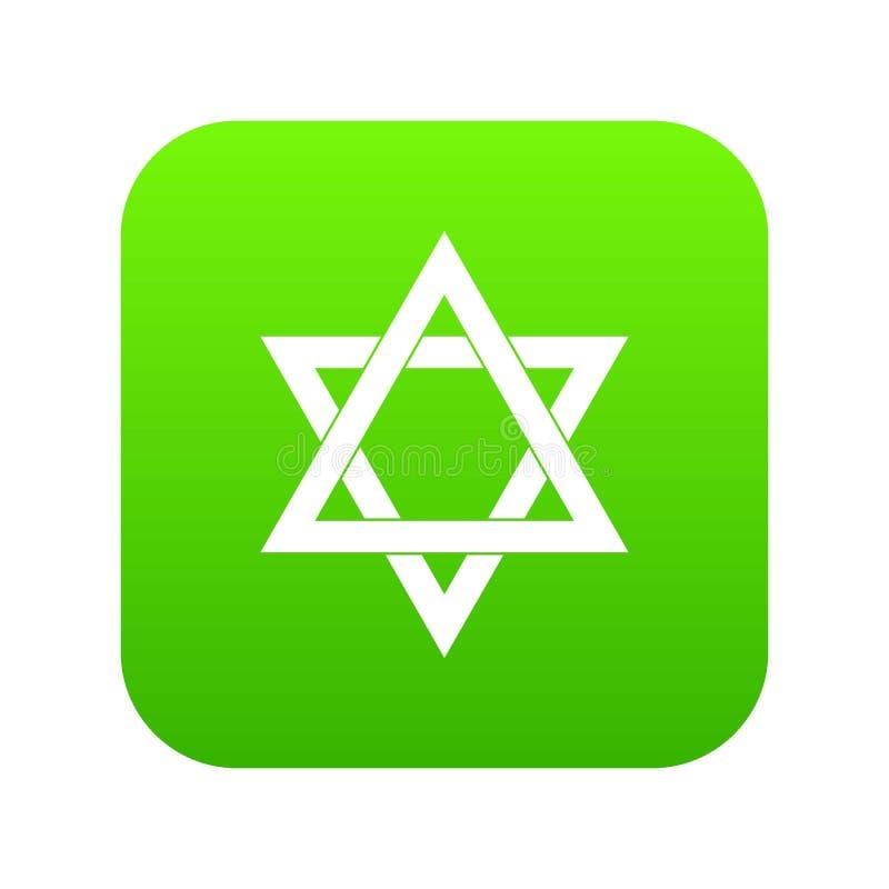 Vert numérique d'icône d'étoile de David illustration de vecteur
