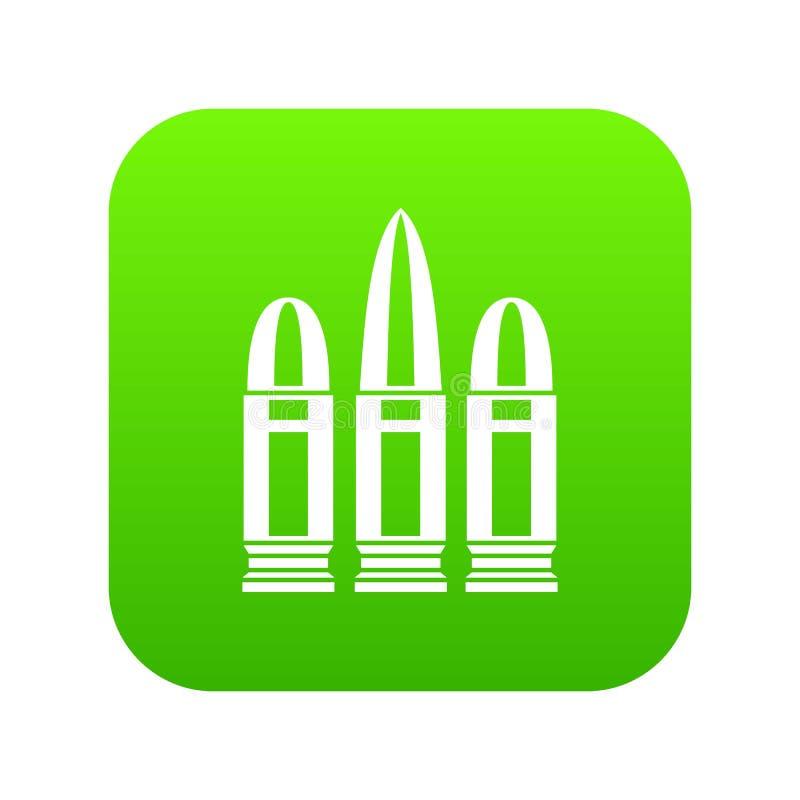 Vert numérique d'icône de cartouches illustration stock